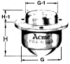 656A Series Commercial Caster/Transfer -- 656A 3/4