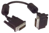 DVI-D Dual Link LSZH DVI Cable Male / Male Right Angle, Bottom 1.0 ft -- MDA00043-1F -Image