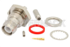 RP TNC Female Bulkhead Connector Crimp/Solder Attachment For RG316, RG174, RG188, .480 inch D Hole -- PE4700 -Image