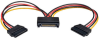 15-Pin SATA Power Y Cable - M/2xF, 18 AWG, 6 in. -- P947-06N-2P15