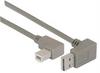 Right Angle USB Cable, Down Angle A Male/ Right Angle B Male, 1.0m -- CA90DA-90RB-1M -Image