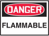 Danger Flammable Hazard Warning Label -- SGN412