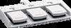 3-pedal Medical Foot Switch -- MKF 3-MED GP31 - Image