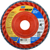 Norton Red Heat Flap Disc Quick Trim Type 27 -- 63642504877
