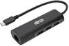USB 3.1 Gen 1 USB-C Portable Hub/Adapter, 3 USB-A Ports and Gigabit Ethernet Port, Thunderbolt 3 Compatible, Black -- U460-003-3A1GB