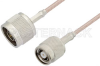 N Male to Reverse Polarity TNC Male Cable 12 Inch Length Using RG316 Coax -- PE35247-12 -Image