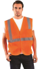 Occunomix Value ECO-IM Orange Medium Polyester Mesh Standard Vest - 2 Pockets - Fits 36 in Chest - 021844-61110 -- 021844-61110