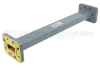 WR-90 Waveguide Section 9 Inch Length Straight Using CPR-90G Flange With a 8.2 GHz to 12.4 GHz Frequency Range in Commercial Grade -- SMF90SA-09 -Image