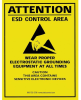 SCS ESD Paper Rectangle Yellow Electrical Safety Sign - 17 in Width x 22 in Height -- SCS SIGN17X22E