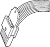Cable Assemblies and IO cable connectors, 2.54 mm (0.100 in.), DIN 41612 Standard, Cable Connectors, Number of contacts (Total)=10 -- 65147-001LF - Image