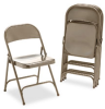 Virco Metal Folding Chairs, Bronze, 4/Carton -- VIR16213K