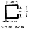 Duravar UHMW-PE Polymer Small Guide Rail Snap-On Extruded Profile -- 49465