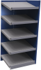 Closed shelving with sloped shelves (add-on unit for series) -- SRA2T-EE750501 - Image