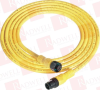 PATCHCORD: DC MICRO (M12) FEMALE STRAIGHT 4-PIN PVC CABLE YELLOW UNSHIELDED IEC COLOR CODED DC MIC MALE STRAIGHT 5 METER (16.4 FEET) -- 889DF4ACDM5