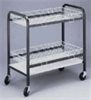 Glassware cart with two large wire baskets -- GO-09378-00