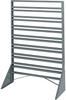 Rack, Rail Rack, 1-Sided, 16 Rails, Gray -- 30008