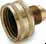 Garden Hose Fittings -- Swivel Connector SAE Flare to Female Hose Thread 50GHSV - Image