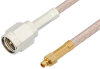 SMA Male to MMCX Plug Cable 12 Inch Length Using RG316 Coax, RoHS -- PE34122LF-12 -Image