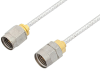 2.4mm Male to 1.85mm Male Cable 18 Inch Length Using PE-SR405FL Coax, LF Solder, RoHS -- PE36529LF-18 -- View Larger Image