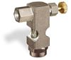 "(Formerly B1630-1X00), Inverted Angle Small Sight Feed Valve, 1/8"" Female NPT Inlet, 1/8"" Female NPT Outlet, Handwheel -- B1628-311B1HW -Image"