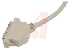 cable assembly, d-sub db25 male/male, deluxe molded, 15 ft, shielded -- 70126394 - Image