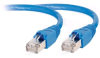 CTG 27741 1ft CAT6a Shielded Patch Cable - Blue -- 27741