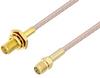 SMA Female Bulkhead to SMA Female Cable 36 Inch Length Using RG316 Coax -- PE3W07334-36 -Image
