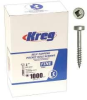 KREG Pocket Screws - 1 In., #6 Fine, Pan-Head, 1000 Ct. -- Model# SPS-F1 - 1000