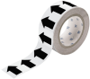 Brady B-946 Black on White Directional Flow Arrow Tape - 2 in Width - 30 yd Length - 91417 -- 754476-91417 - Image