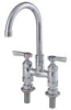 4 IN Lead Free Deck Mount Faucet with 6 IN Gooseneck Spout -- 0239836 - Image