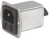 IEC Appliance Inlet C14 or C18 with Filter, Protection Degree IP65 into the Appliance, Fuseholder 1- or 2-pole, Front or Rear Mounting -- 5707 - Image