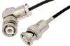 MHV Male to MHV Male Right Angle Cable 12 Inch Length Using RG174 Coax -- PE35799-12 -Image