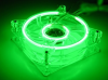120mm Dual Cold Cathode Fan - Green -- 16212