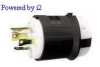 Locking Plug Black/White 30A 125/250V 3P -- 78358503914-1