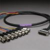 GEPCO 8CH DB25 Audio Snake Cable 25-PIN TO 3-PIN XLR FEMALES -- 20DA88512-DB25XJ-035