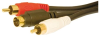 S-VIDEO MALE DUAL RCA MALES 6' -- 29-300-72 -Image