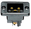 Flanged Male Inlet Brown 20A 250V 2P -- 78358577709-1 - Image