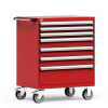 R Mobile Cabinet, with Partitions, 7 Drawers (36