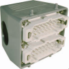 32 Pole with Ground Industrial Rectangular Connector Pre-Assembled Unit with Hood Mount Housing -- 403055