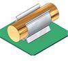 Component clip, black PVC, screw mt, 1.38 holding dia -- 70208828 -- View Larger Image