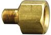 Fisnar 560727 Brass Adapter 0.125 in NPT Male x 0.25 in NPT Female -- 560727 -Image