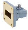 WR-112 to SMA Female Waveguide to Coax Adapter UG-51/U Square Cover Standard with 7.05 GHz to 10 GHz H Band in Copper, Paint -- FMWCA1010 - Image