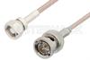 75 Ohm SMC Plug to 75 Ohm BNC Male Cable 36 Inch Length Using 75 Ohm RG179 Coax, RoHS -- PE33586LF-36 -Image