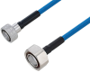Plenum Snap-On 4.3-10 Male to 7/16 DIN Male Low PIM Cable 12 Inch Length Using SPP-250-LLPL Coax Using Times Microwave Parts -- PE3C6184-12 -Image