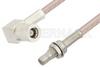 SMB Plug Right Angle to SMB Jack Bulkhead Cable 36 Inch Length Using RG316-DS Coax, RoHS -- PE33349LF-36 -Image
