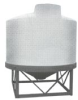 Chem-Tainer 1500 Gallon Conical Bottom Bulk Storage Tank -- TC8684JA