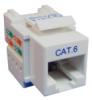CAT-6, RJ-45 Snap-In connector (White) -- SN1313-RJ45-W