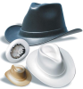 Vulcan Cowboy Hard Hats> COLOR - White > UOM - Each -- VCB200-W