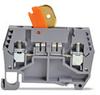 Disconnect Terminal Block: knife blade style, gray, 25A, 300V, 50/pk -- DN-DIS4