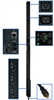 TAA Compliant 3-Phase Monitored PDU, 8.6 KW, 36 208V Outlets (30 C13, 6 C19), 10-ft. NEMA L21-30P 30A Input, 0U Vertical Mount -- PDU3VN10L213TAA